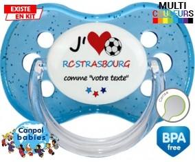J'aime rc strasbourg + prénom: Sucette Cerise-su7.fr