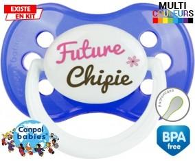 Future chipie : Sucette Anatomique personnalisée