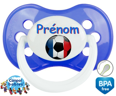 Ballon foot France + prénom: Sucette Anatomique-su7.fr