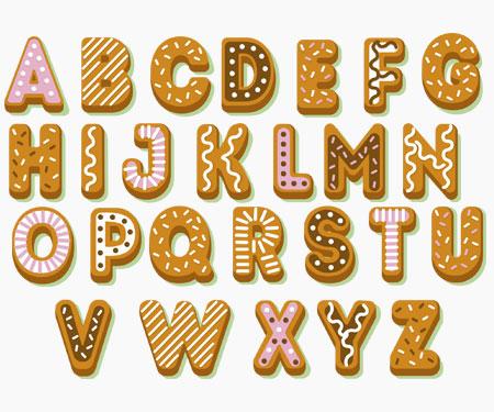 Boîte à tétine Prénom ou texte personnalisée alphabet style-57