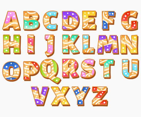 Boîte à tétine Prénom ou texte personnalisée alphabet style-58