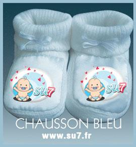 Offrez les chaussons pour bébé en coton