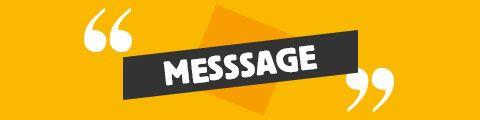Design pour message personnalisé