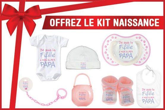 Offrez le kit de naissance cadeau personnalisé